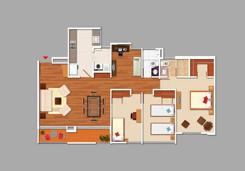 Montreal apartamentos bogota plano
