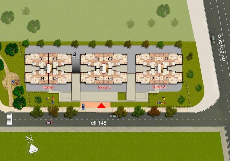 Montreal apartamentos bogota plano general