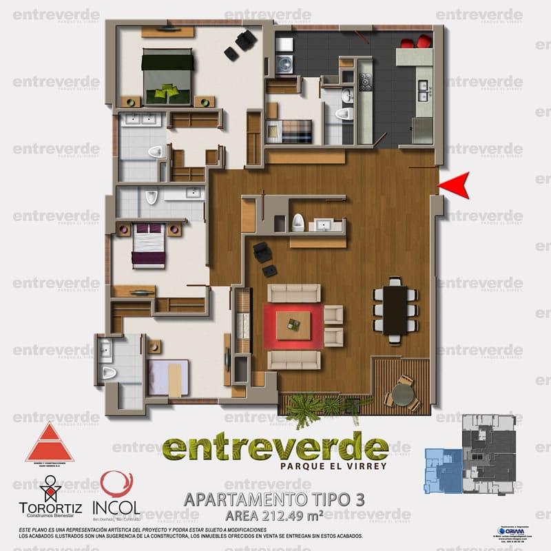 Entreverde apartamentos bogota plano