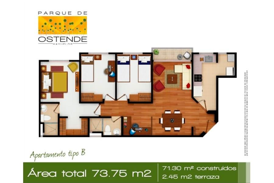 Parque de Ostende plano apartamento