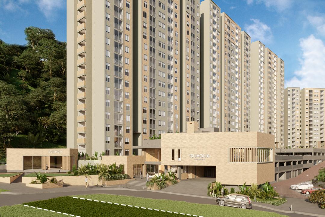 Apartamentos en Pereira - Fachada Guadua